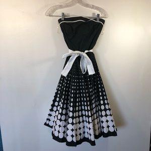Ruby Rox Rockabilly Dress Black White A-line Flare